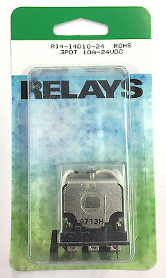 NEW NTE R14-14D10-24 24 Volt DC Coil, 10 Amp 3PDT 11 Pin Ice Cube Relay