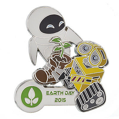 Disney Parks 2015 Earth Day  WALL-E AND EVE PLANT IN BOOT LE 3D Pin