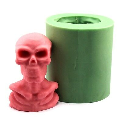 LZ0111  3D Halloween Skull Silicone Soap Candle Molds Resin Clay Crafts Mould