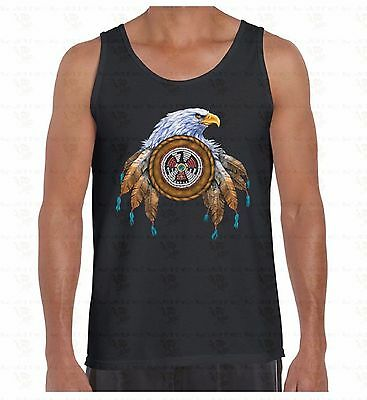 Dream Catcher Eagle Men's Tank Top Native American Feathers Indian Gift TankTOP