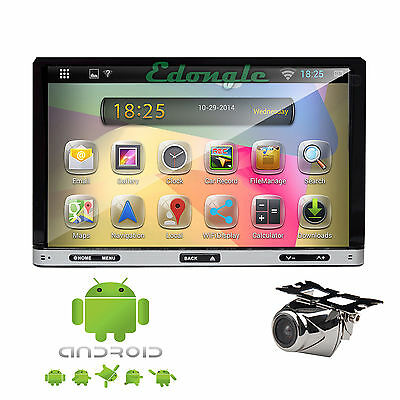 """Android 4.2 OS Double 2 Din 7"""" Capacitive Car DVD Player Stereo iPod Wifi+Camera"""