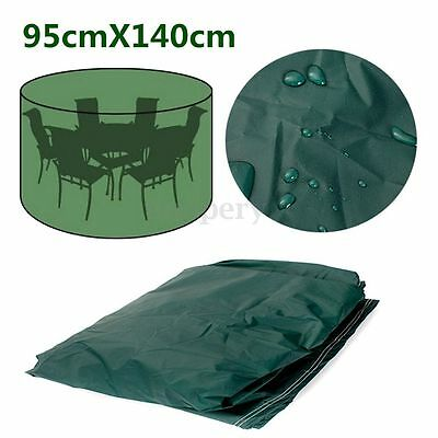 95cm x 140cm Waterproof Outdoor Furniture Cover Round Patio Table Chair Shelter