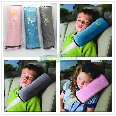 2x Children Kids Safety Seat Belt Cushion Pillow Harness Pad Shoulder Cover