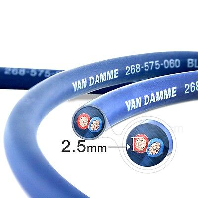 Van Damme Professional Blue Series Studio Grade 2 x 2,5 mm Lautsprecherkabel