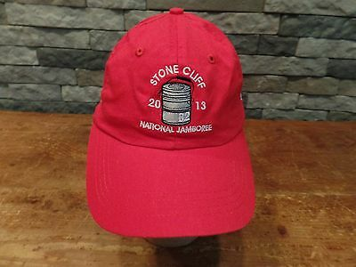 2013 Stone Cliff National Jamboree Hat Cap Boy Scouts Velcro Adjust Cap America