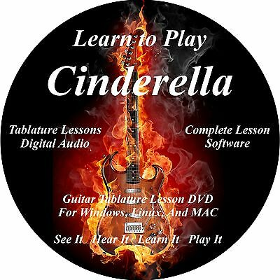 Cinderella Guitar TABS Lesson CD 31 Songs + Backing Tracks + BONUS!!