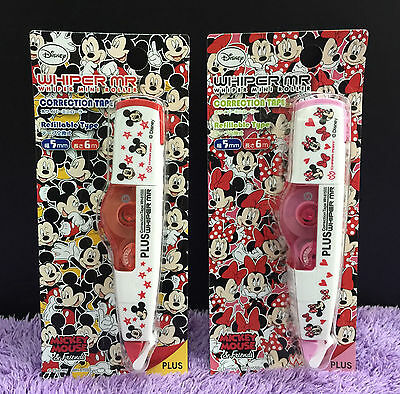 Disney Mickey Mouse Correction Tape Cute Minnie Whiper Mini Roller PLUS Whiteout