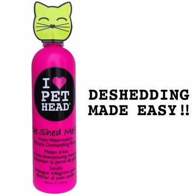 Pet Head Cat Kitten De Shed Me Rinse Shampoo – Removes Excess Hair Shedding