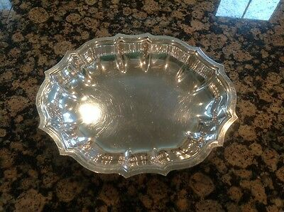 Vintage CHIPPENDALE International Silver Co Scalloped Edge Bowl Dish 11 inch