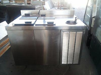 Delfield 13WC44R Ice Cream Dipping Cabinet with Sink and Dipperwell