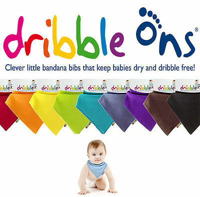 Dribble Ons Bandana Baby Bib - All Colours Available!! Pink, Blue, White etc...!