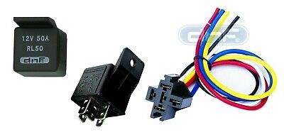 1 Pack 50 Amp 12V Bosch Style Relay 1 pack 30 40 50 amp 12v dc bosch style relay harness socket 100