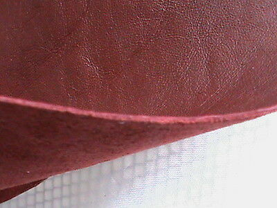 """One pair 4"""" x 7"""" oval genuine leather red burgundy maroon thin elbow patches"""