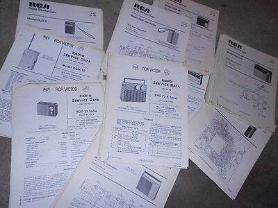 Rca Victor Radio Transistor Portable Service Data Sheets Wiring Large Lot 1.75""