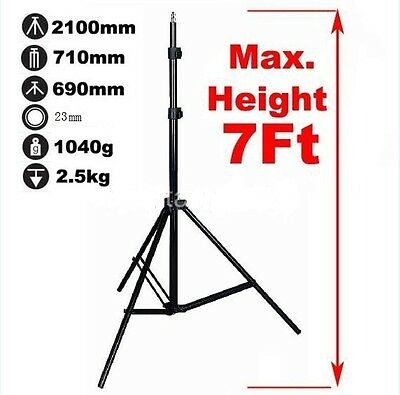 Photo Video 2.1m Alum Alloy Light Stand Tripod For Umbrella Holder Flash Bracket