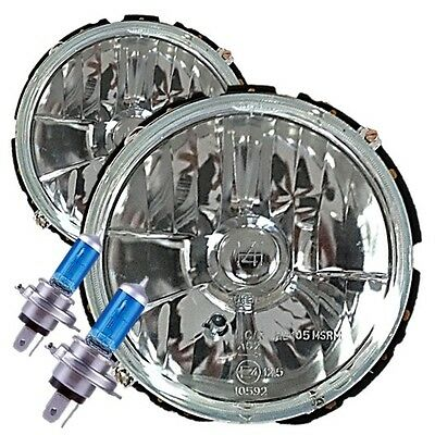 Vw Golf Mk1 Caddy Cabriolet 50% Brighter Xenon Halogen Headlight Lamps Upgrade