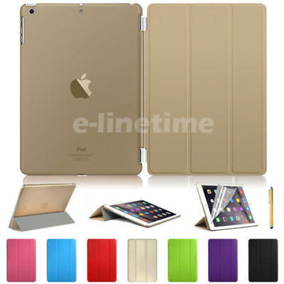 Slim-Fit Magnetic Leather Smart Cover Back Case for iPad 5 4 3 mini Air Pro LOT
