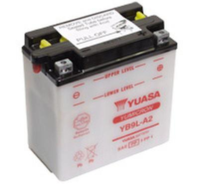 Yuasa Yb9L-A2 Motorcycle Battery And Acid Pack