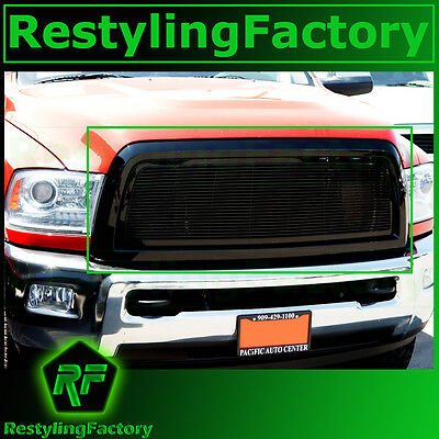 10-18 RAM Truck 2500+3500+HD Black Billet Grille+Complete Replacement+Shell 2018