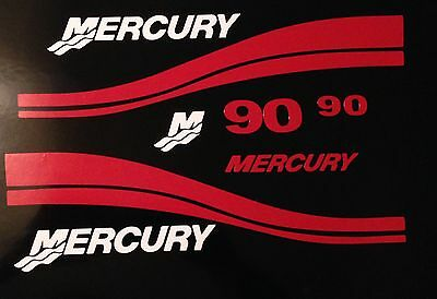 Mercury Outboard  115hp - 250 HP two stroke  Marine vinyl     this set is red