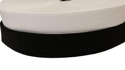WOVEN ELASTIC FLAT FOR WAISTBANDS CUFFS TOP QUALITY TAILORING & DRESSMAKING 25mm