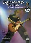 Easy Soloing for Rock Guitar Tab Book CD Classic Solos Licks Riffs Scales New