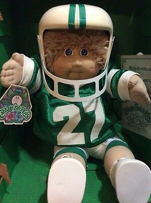 1983 CABBAGE PATCH KID FOOTBALL PLAYER WITH HELMET RARE