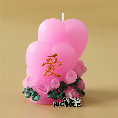 Heart Shape Silicone Candle Mold Handmade Soap Craft Decorating Chocolate Mould