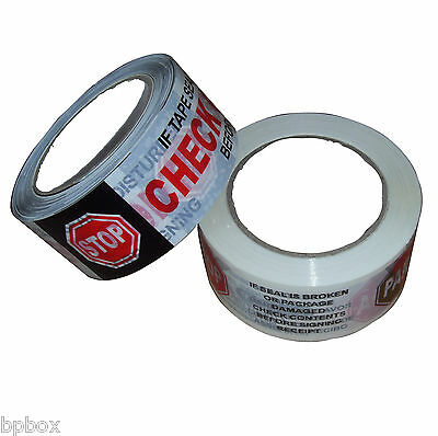 "36 sealing Security tape Rolls Printed 2"" x 110 yd - 2.0 mil"