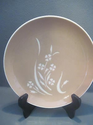 Vintage Harkerware Springtime Cocoa Pink and Cream 7 INCH SALAD Plates