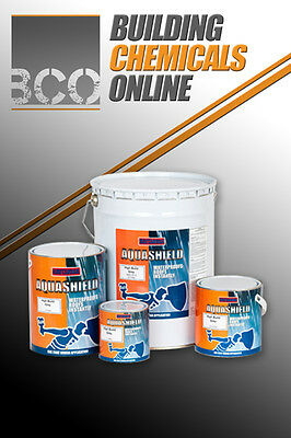 Aquashield 'HiBuild' Solvent Waterproofing Roof Paint Coat - All Colours & Sizes