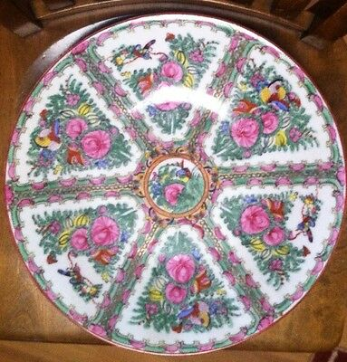 """Japanese Porcelain Ware Hand Decorated In Hong Kong ACF 14"""" LARGE FLORAL BOWL"""