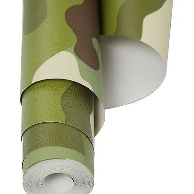 3 Rolls Of Army Camouflage Wallpaper - 10.5m Rolls Of Camo Wallpaper