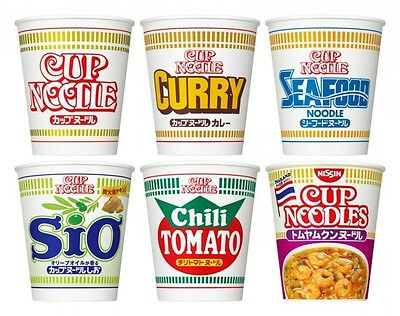 NISSIN CUP NOODLE Instant Ramen Plain Curry Seafood Salt Tomato Import JAPAN