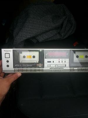 Vintage Technics RS-B11W Stereo Double Deck & Dubbing/mixing. Works!