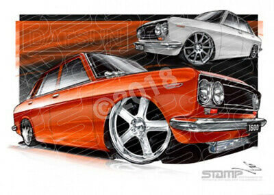 Imports Nissan DATSUN 1600  STRETCHED CANVAS (S034)