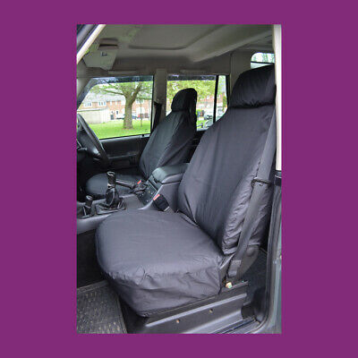 Land Rover Discovery Series 2 Front Pair Black Tailored & Waterproof Seat Covers