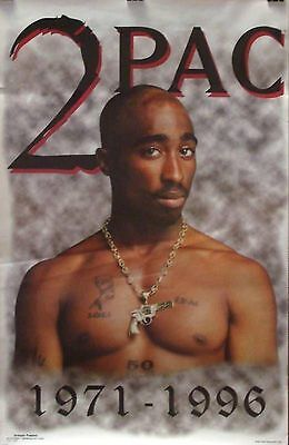 Tupac Memorial Poster - Vintage NEW - 229 - FREE SHIPPING