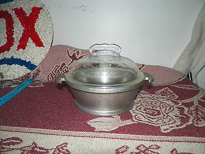 Vintage Guardian Service Ware Aluminum Sauce Pot With Glass Lid 6 3/4 X 2 1/2 In