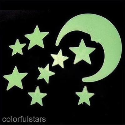 12/pack Luminous Stars Moon Decorative Stereoscopic Wall Sticker Paster Decals