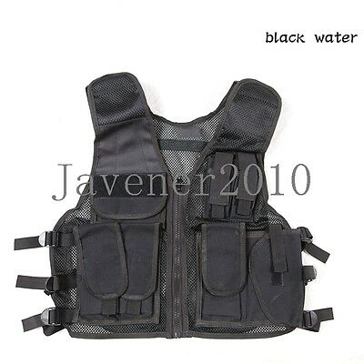 Outdoor military combat tactical vest multi-function protective airsoft vest