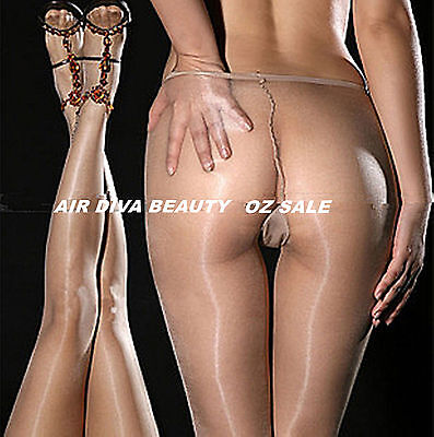 Women Lady Sheer to waist Sexy Oil Shine Glossy Pantyhose Stockings Tights