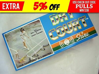 Shine Dry Court Squeegee. Dry Tennis Courts Etc. Tennis Ball Sweeper Sport Au