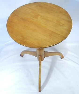 Cohasset Hagerty Scan Design Mid Century Modern Cherry Wood Side Lamp Hall Table