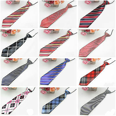 Newly Girl Boy Fashion Elastic Tie Styles Wedding Party Necktie Children Kids