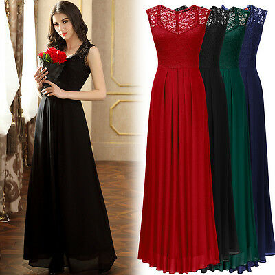 New Women's Long Chiffon Formal Evening Party Ball Gown Wedding Bridesmaid Dress