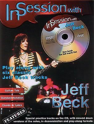 In Session with Jeff Beck Songs Solos Licks Rock Jazz Blues Guitar Tab Book Cd
