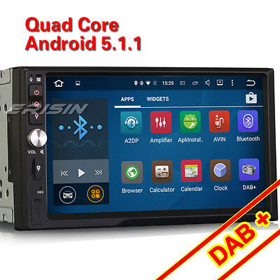 2 DIN Universal Car Stereo Quard-Core Android 5.1 GPS DAB 3G DTV DVR OBD 3092-GB