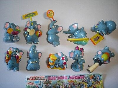 Kinder Surprise Set - Funny Fanten Beach Elephants 1995 - Figures Collectibles