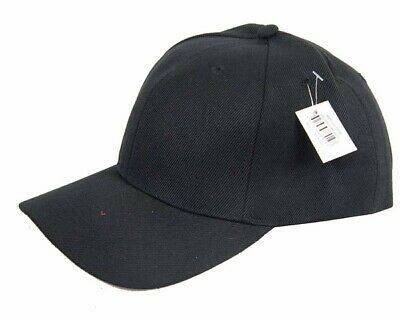 Plain Baseball Caps Black Hat Cap New